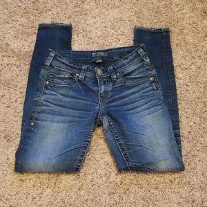 Silver Jean's size 24 Boyfriend skinny EUC